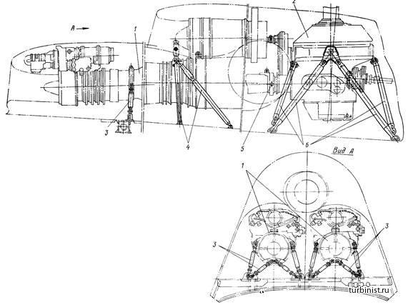 Схема крепления двигателей и