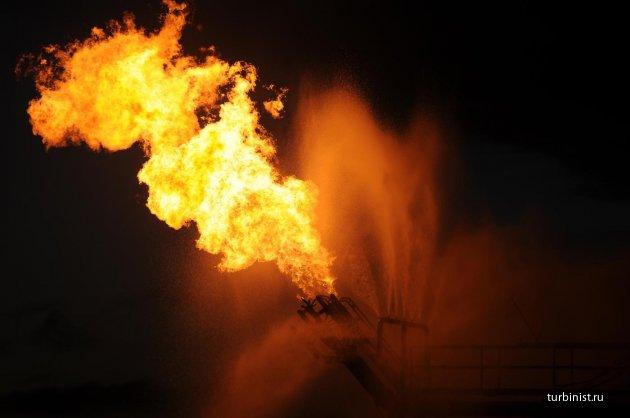 Сжигание ПНГ (попутного нефтяного газа)