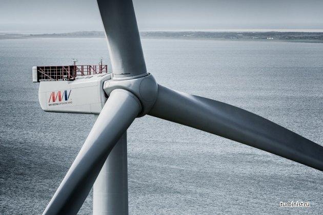 Ветровая турбина MHI Vestas V164 побила мировой рекорд, выработав 216 МВтч электроэнергии за сутки