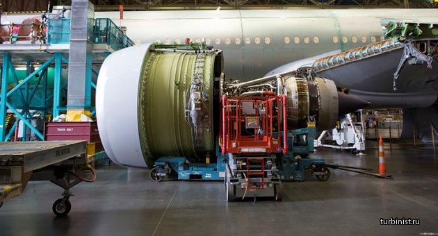 Турбовентиляторный двигатель GE90. Самый крупный в истории авиации
