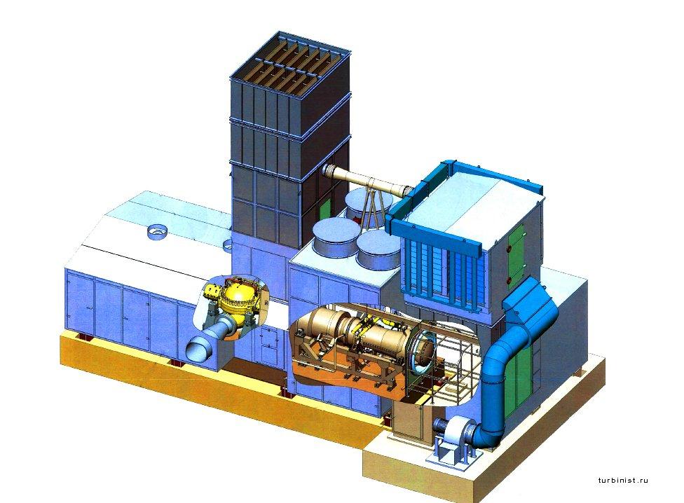 Газоперекачивающий агрегат ГПА-Ц-6.3 3d вид
